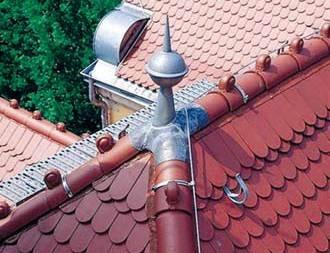 Instalacja piorunochronna na dachu