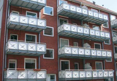 Balkony o różnej konstrukcji