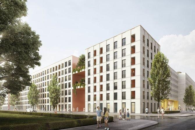Osiedle przy ul. Ratuszowej w Warszawie wg koncepcji pracowni BE DDJM Architekci