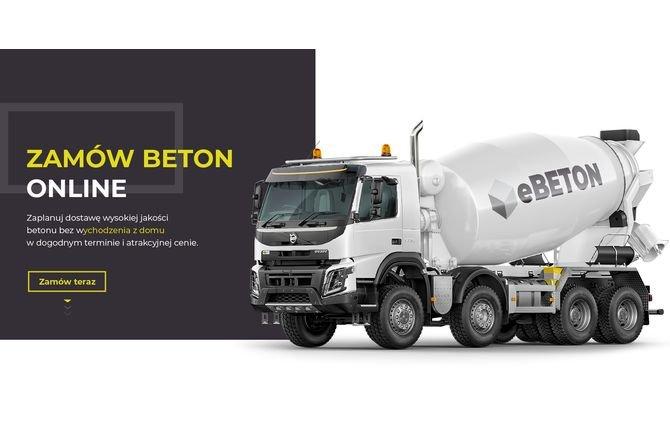 eBeton.pl - pierwsza w Polsce platforma sprzedaży betonu online