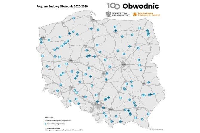 Program budowy 100 obwodnic w 10 lat