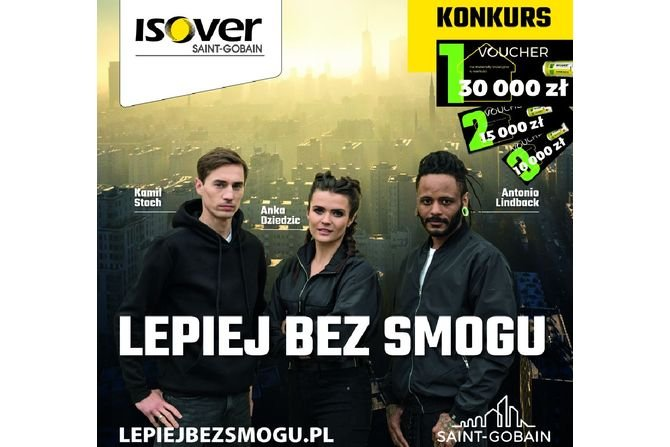 Lepiej bez smogu - kampania Isover