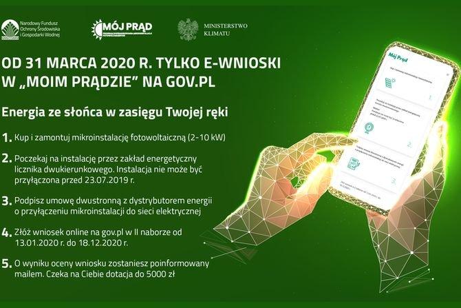 Od 31 marca tylko e-wnioski w programie Mój Prąd