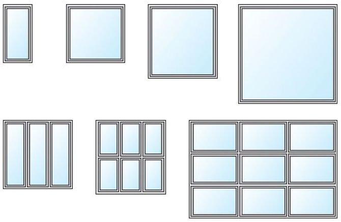 Właściwości cieplne wieloskrzydłowych okien o zmiennych parametrach geometrycznych