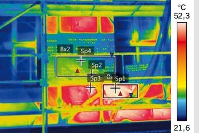 Wpływ natężenia promieniowania słonecznego na rozkład temperatury powierzchni polistyrenu grafitowego