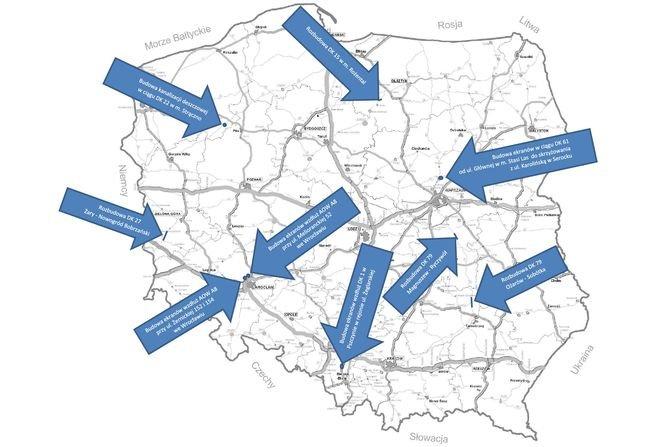 500 mln zł na przebudowę dróg krajowych
