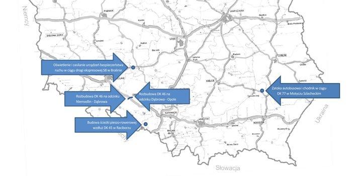 Infrastruktura zwiększająca bezpieczeństwo ruchu drogowego w czterech województwach