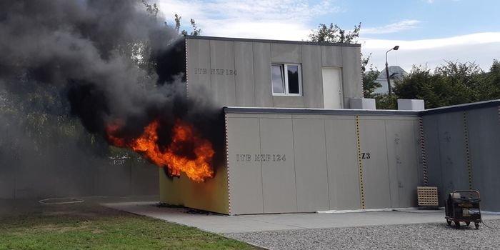 Dom bezpieczny pożarowo – eksperyment pożarowy w Pionkach