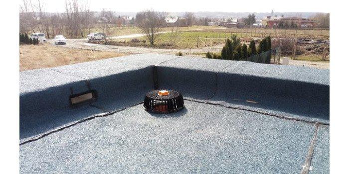Spadki styropianowe na dachu płaskim