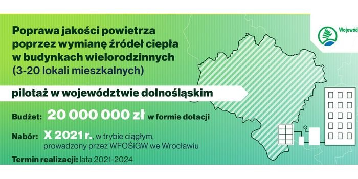 W październiku ruszy wymiana kopciuchów w budynkach wielorodzinnych na Dolnym Śląsku