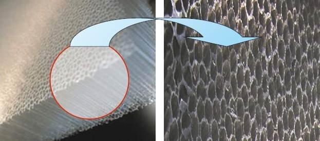 Fragment izolacji transparentnej o strukturze włókniny poliwinylowej Archiwum autorów