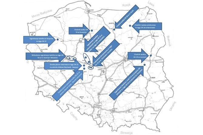 Kolejne inwestycje zwiększające bezpieczeństwo na drogach MI