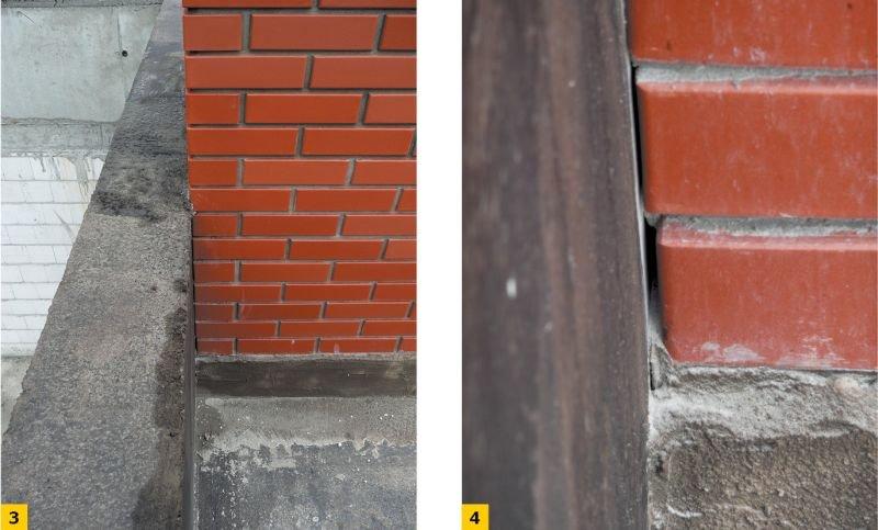 FOT. 3-4. Poprawne wykonanie prac hydroizolacyjnych na dachu zielonym wymaga zaplanowania kolejności wykonywanych prac. Wykończenie kanałów wentylacyjnych na tym etapie uniemożliwia lub przynajmniej bardzo utrudnia poprawne wykonanie hydroizolacji; fot.: archiwum autora