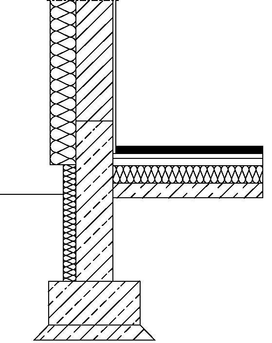 RYS. 17. Zmniejszenie wpływu mostka termicznego przez zastosowanie pionowej izolacji krawędziowej; rys.: [22]