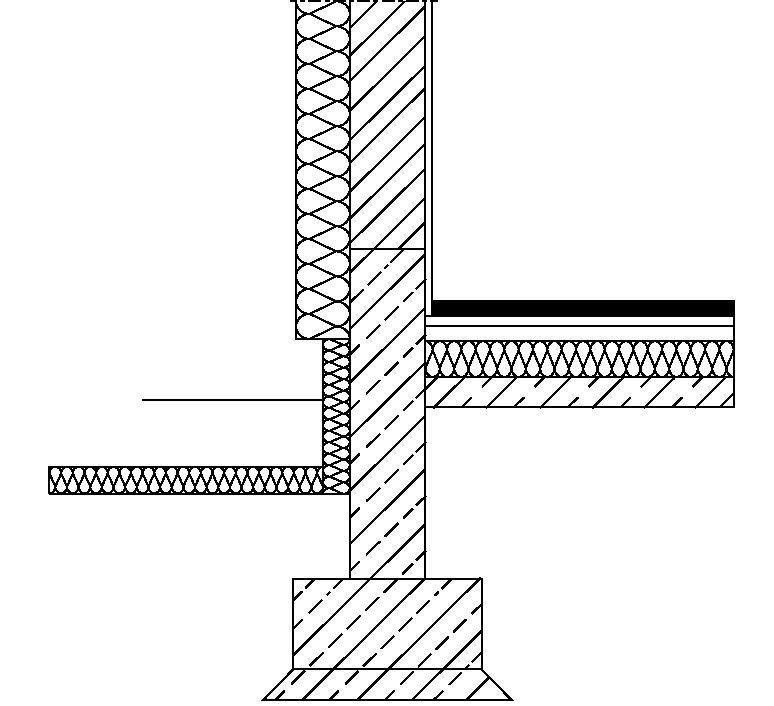 RYS. 18. Zmniejszenie wpływu mostka termicznego przez zastosowanie poziomej izolacji krawędziowej; rys.: [22]