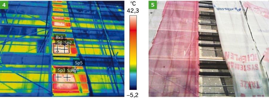 FOT. 4-5. Badanie termowizyjne ocieplanej ściany styropianem grafitowym - styczeń 2019 r.; fot.: P. Krause