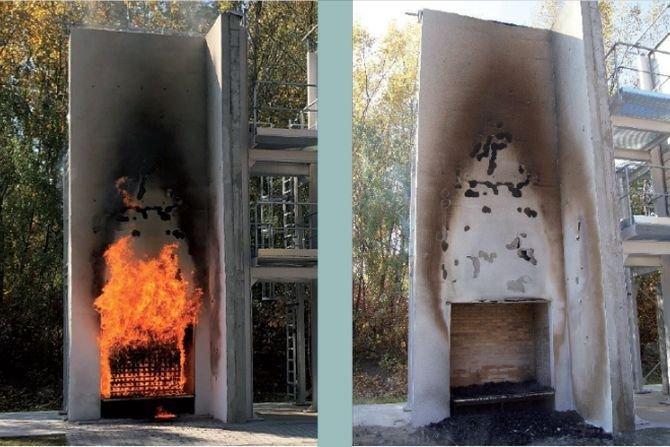 Aby zwiększyć bezpieczeństwo pożarowe systemów ociepleniowych z użyciem EPS, w wielu krajach UE zalecane jest stosowanie systemów mieszanych. Fot.: M. Niziurska, B. Chruściel, M. Wieczorek