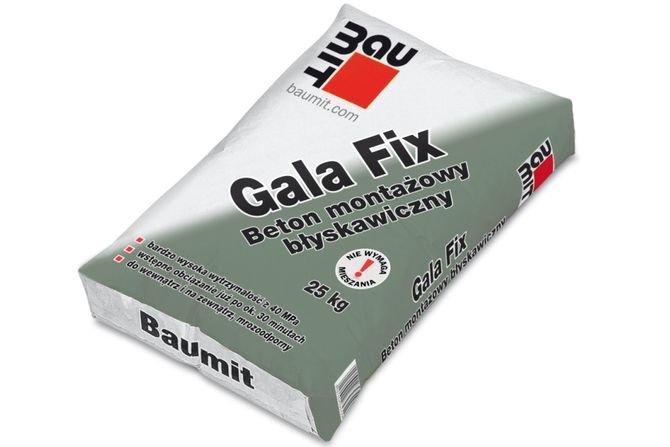 Sprawny przebieg prac betoniarskich z betonem montażowym Gala Fix Baumit
