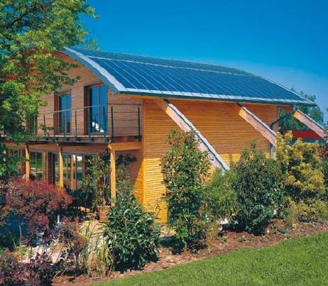Fot. 9. Przykład zastosowania elastycznych paneli fotowoltaicznych w budownictwie mieszkaniowym