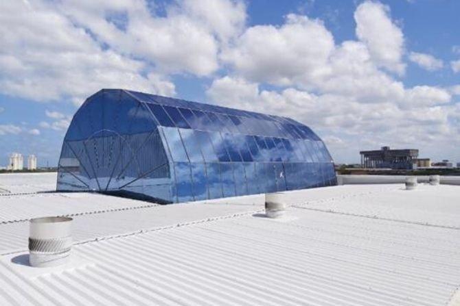 Polska innowacja na dachu lotniska w Brazylii Grupa Selena