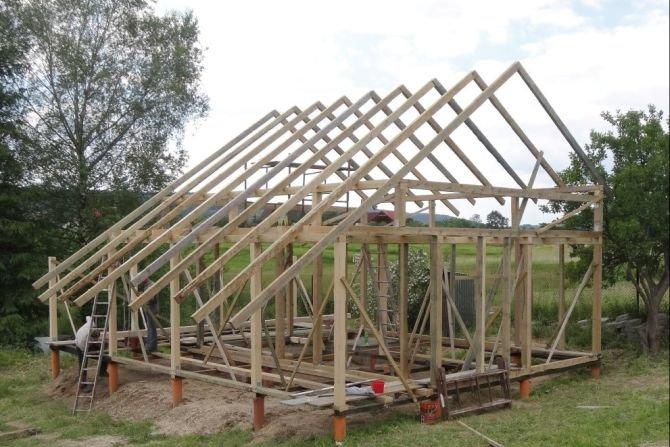 Konstrukcja szkieletowa domu drewnianego M. Wieczorek