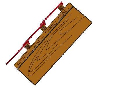 Schemat dachu (poddasza) pokazanego na fot. 4