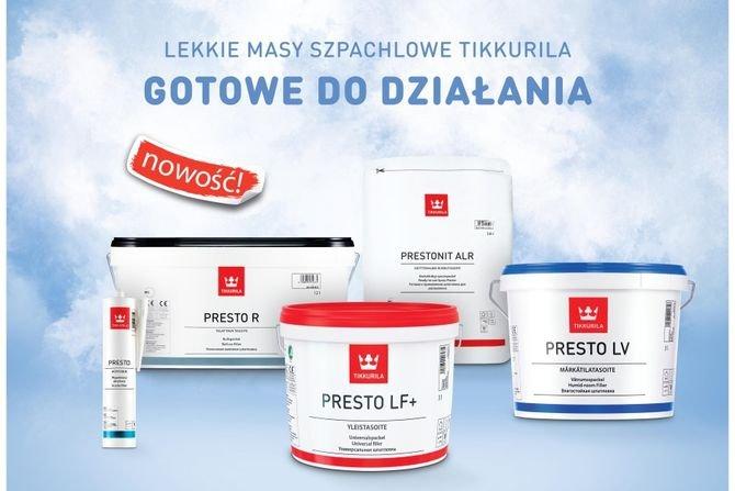 Nowa linia mas szpachlowych Tikkurila