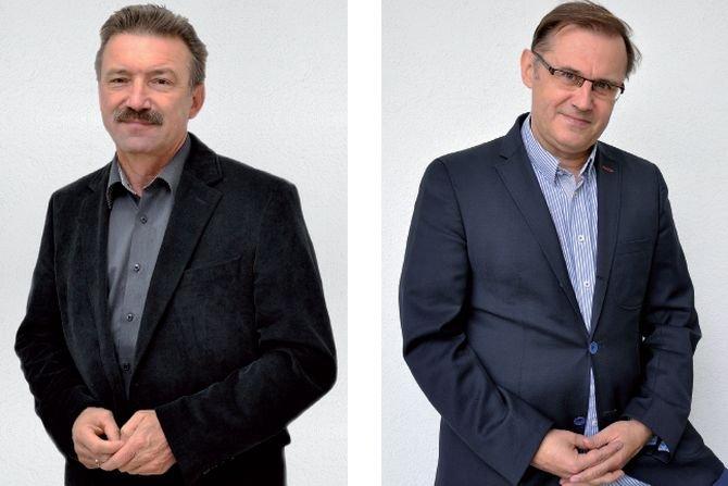 Od lewej: Bogdan Panhirsz, dyrektor zarządu Grupy PSB Handel i Mirosław Lubarski, członek zarządu Grupy PSB Handel PSB
