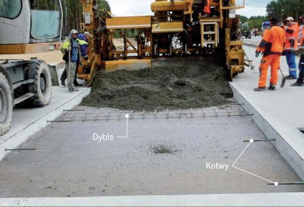 FOT. 1. Wymiana dyblowanej i kotwionej płyty betonowej nawierzchni; fot.: archiwum TPA