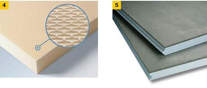 FOT. 4-5. Przykładowe płyty z polistyrenu ekstrudowanego XPS: płyta XPS (4), płyta XPS warstwowa (5); fot.: materiały producentów