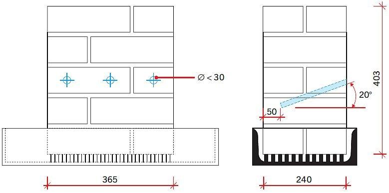 RYS. 7. Schemat muru badawczego dla iniekcji grawitacyjnej w metodzie WTA; rys.: [3]