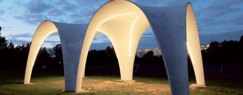 FOT. 18. Pawilon w Niemczech wykonany z betonu zbrojonego włóknami węglowymi; fot.: [78]