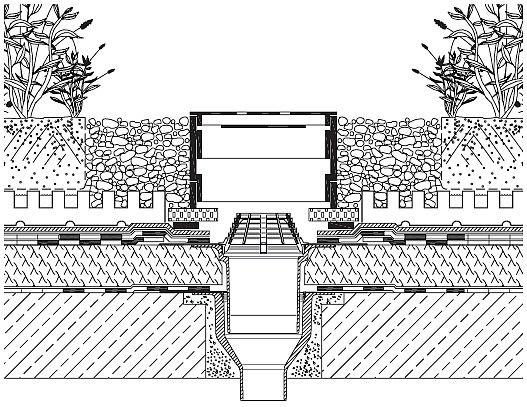 Rys. 16.Wpust dachowy przy zazielenieniu intensywnym/ekstensywnym. Wykonstruowanie wpustu musi umożliwiać późniejszą kontrolę jego drożności i ewentualne oczyszczenie. Materiały stosowane do wykonania wpustu (zwłaszcza pokrywy ochronnej) nie powinny prz.