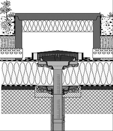 Rys. 22.Przykład wpustu dachowego z ciśnieniowym odwodnieniem; rys.: [7–8]