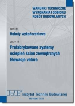 czesc b roboty wykonczeniowe zeszyt 16 prefabrykowane systemy ocieplen scian zewnetrznych elewacje veture