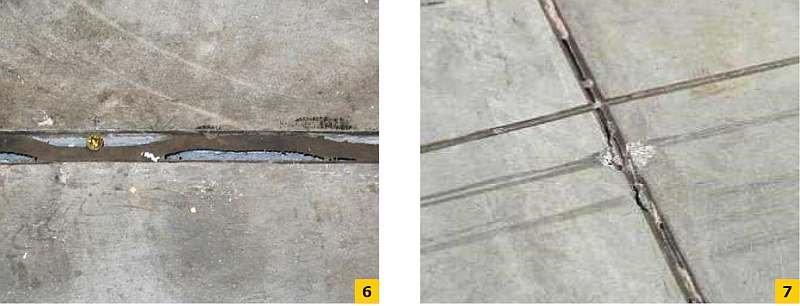 FOT. 6-7. Odspojenia kitów wypełniających dylatacje; fot.: archiwum autora