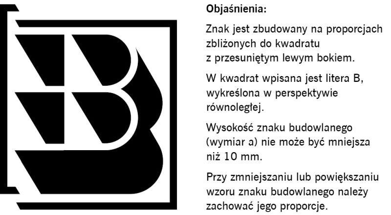 RYS. 1. Wzór znaku budowlanego B; rys.: M. Najduchowska