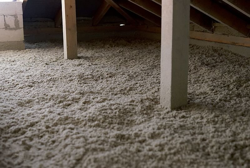Fot. 4. Przykład gotowego ocieplenia. Izolacja z granulatu z wełny mineralnej; fot.: Rockwool