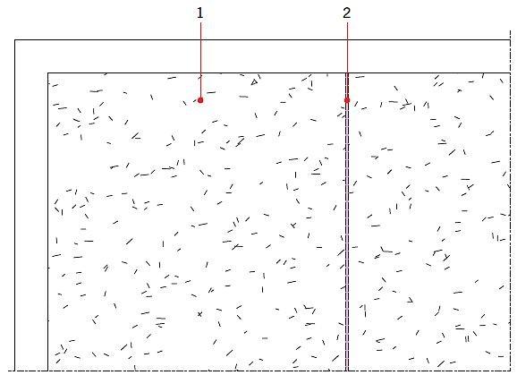 RYS. 15. Zastosowanie maty kompensacyjnej układanej luźno na podłożu pozwala na wykonanie wykładziny na podłożu, które może być wątpliwe pod względem przyczepności zaprawy klejącej. Podłoże po zerwaniu starej posadzki z PCV, linoleum, wykładziny dywanowej: przed (15) i po (16). Objaśnienia: 1 - nieprzyczepne podłoże, 2 - dylatacja w podkładzie, 3 - płytka, np. 120×60 cm, 4 - dylatacja w wykładzinie; rys.: J. Klimczak, Atlas