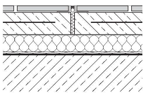 RYS. 4. Dylatacja strefowa w okładzinie ceramicznej z zastosowaniem kątowników ochronnych; rys.: Agrob Buchtal