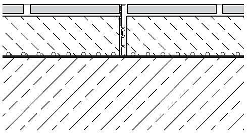RYS. 5. Dylatacja strefowa w okładzinie ceramicznej ze specjalnego profilu; rys.: Agrob Buchtal