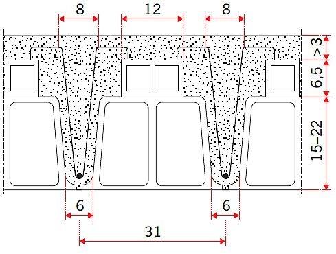 RYS. 5. Podwyższony strop Ackermana; rys. [10]