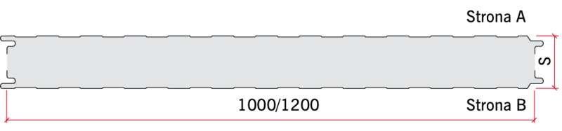 RYS. 4. Przykład przekroju panelu warstwowego ściennego standardowego; rys.: archiwum autora