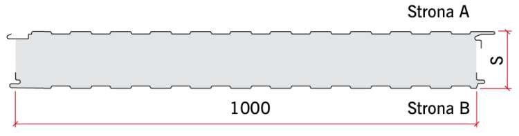 RYS. 5. Przykład przekroju przekroju panelu warstwowego ściennego umożliwiającego zakrycie łączników; rys.: archiwum autora