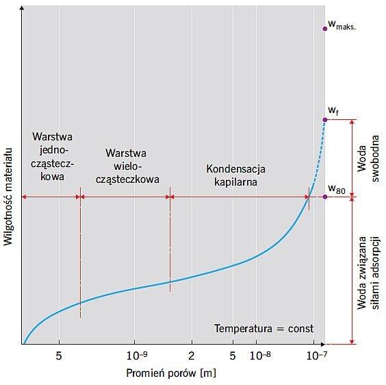 RYS. 4. Typowy kształt izotermy sorpcji; rys.: [10, 16]