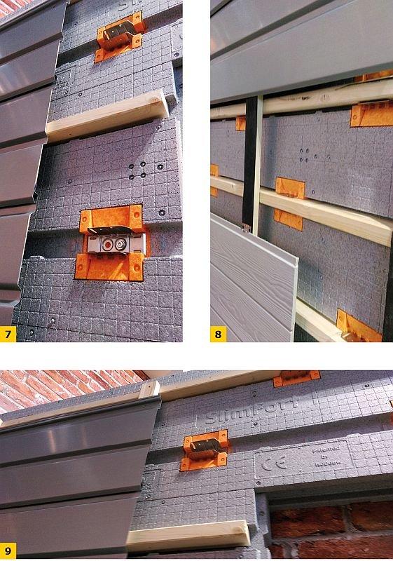 FOT. 7-9. Przykłady montażu okładziny z profili metalowych; fot.: P. Krause