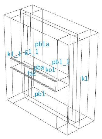 RYS. 7. Model budynku wykonany w programie ESP-r; rys.: B.Wilk-Słomka, J. Belok