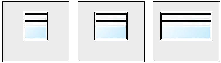 RYS. 2. Schematy badanych wariantów okna; rys.: W. Jezierski, J. Borowska