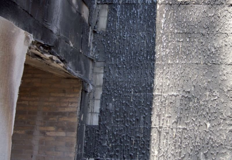 FOT. 5. Nadproże komory spalania ściany EPS po badaniu; fot.: M. Niziurska, B. Chruściel, M. Wieczorek [2]