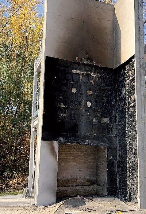 FOT. 6. Ściana EPS po usunięciu warstwy zbrojonej; fot.: M. Niziurska, B. Chruściel, M. Wieczorek